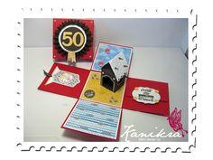 Explosionbox Haus am Meer Stampin` Up! - Mini Milchkarton, Chalk Talk, Label Collection, Designer Rosette, Mini Milk Carton