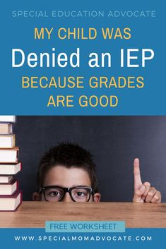Has your child been denied an IEP or It is so common for schools to say that a child is not eligible for special education because the child has good grades or is too smart. The truth is, this is not a valid excuse for denying special education support. Dysgraphia, Dyslexia, Special Education Law, Auditory Processing Disorder, Sensory Processing, Iep Meetings, High Functioning Autism, Special Needs Mom, Adhd Kids