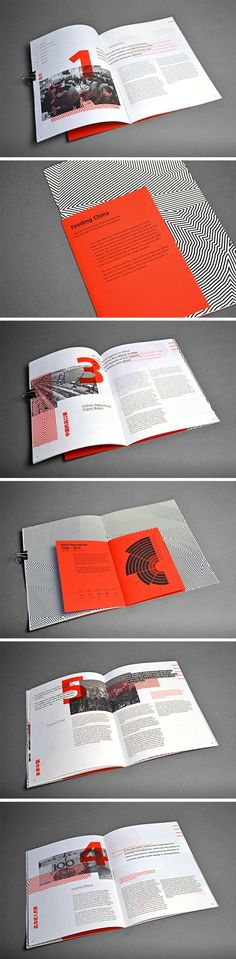 I think the colour scheme selected for this magazine really works well. The grey and red contrast which creates something rare.: