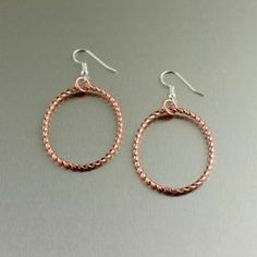 Get 50% off these #handmade #Copper Cable Hoop Earrings now through April 30, 2012.  Only $12.00  Use Discount Code: APRILPIN during checkout.  http://www.handmadecopperjewelry.com/copper-cable-hoop-earrings.html