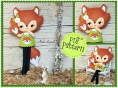 "This PDF sewing pattern is to make a Fox Doll and a Fox Puppet that is about 10"" (24 cm) tall from felt fabrics. These doll and puppet are hand sewn."