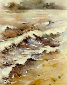 Marion van Nieuwpoort (Dutch artist) 1950 - 2008 Terugtrekkende Zee (Withdrawing Sea), 1998