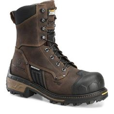 Brown Shoe, Brown Boots, Botas Harley Davidson, Waterproof Steel Toe Boots, Tactical Shoes, Logger Boots, Composite Toe Work Boots, Cool Boots, Custom Shoes