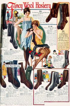 Wearing History - 1923 stockings, catalog