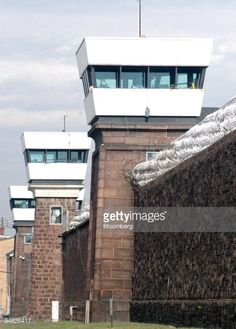 guard-towers-loom-over-the-wall-of-new-jersey-state-prison-on-friday-picture-id94826417 (425×594) Friday Pictures, New Jersey, Prison, Towers, Layout, Windows, Mansions, House Styles, Loom