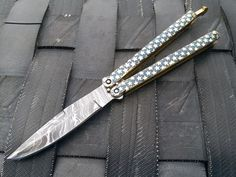 New Damascus Custom Made Folding Knife Engraved Steel Handle by Knives Exporter #KnivesExporter