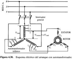 REV / FOR Three-Phase Motor Connection Power and Control