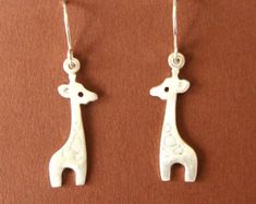 Handmade Sterling Silver Animal and Fun Jewelry Designs by zoozjewelry Giraffe Jewelry, Animal Jewelry, Christmas Mom, Christmas Jewelry, Kids Jewelry, Cute Jewelry, Women Jewelry, Girls Earrings, Women's Earrings