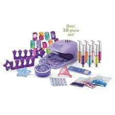 Kids Manicure Pedicure Nail Polish Salon Spa Kit Toy Playset #Lexibook