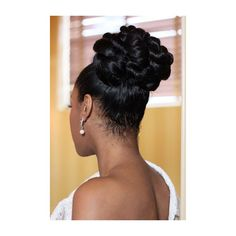 Natural Hairstyles for Your Wedding Day via Polyvore