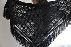 Bessos Handmade Black Shawl. via Etsy.