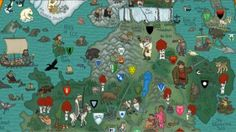 Check out this amazing illustrated map of the seven kingdoms of Westeros — riddled with crests, beasts and heaps and heaps of amazing spoilers. It's simply gorgeous.
