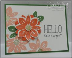 Petal Potpourri, Because You Care, flowers, Flower Medallion Punch, Stampin' Up!, #stampinup