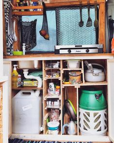Tips and hacks to make your #vanlife kitchen setup amazing! This blog completely explains how to set up a DIY campervan water system with diagrams on how to install sinks, plumbing and faucets in a tiny space! Great for RV advice as well.