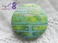 Fabric button printed Monet de la boutique Mauveetcapucine sur Etsy