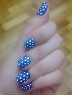 Nail art #summer #dots #blue