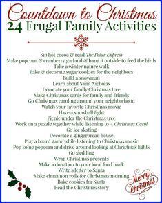 25 Days Of Christmas, Noel Christmas, Christmas Countdown, Little Christmas, Christmas Holidays, Christmas Decorations, Christmas Ideas, Frugal Christmas, Christmas Crafts