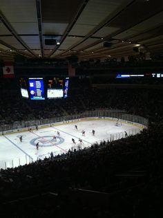 Madison Square Garden - Islanders vs. Rangers  December 22, 2011