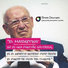 #Quote Peter Drucker, acerca de lo que realmente es el marketing... haz clic en la imagen.