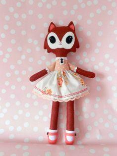 Saffi, a little fox softie doll. £28.00, via Etsy.