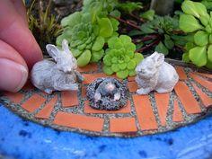 Tiny critters for tiny gardens. #GardeninginMiniature