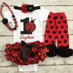 Ladybug birthday/First Birthday/All around by BabyTrendzz on Etsy