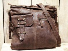 Umhängetaschen - Leder Umhängetasche DAYTONA braun - ein Designerstück von Bag-in-Time bei DaWanda