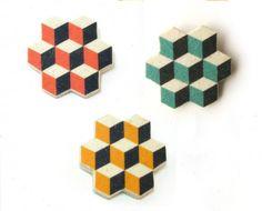 Polyhedron geometrical brooch