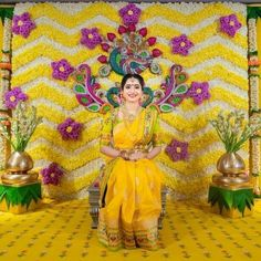 25 Ideas Floral Bridal Shower Dress Style For 2019 Wedding Hall Decorations, Marriage Decoration, Backdrop Decorations, Baby Shower Decorations, Flower Decorations, Backdrops, Indian Baby Showers, Wedding Mandap, Baby Shower Flowers