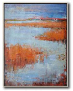 Hand-painted oversized abstract landscape painting by Jackson from CZ ART DESIGN – CZ Art Design ( Celine Ziang Art)