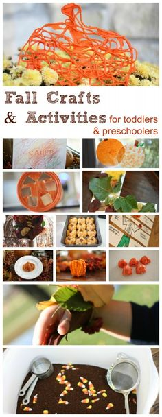 Fall Crafts And Activities for Toddlers & Preschoolers  http://www.icanteachmychild.com/2012/09/fall-crafts-and-activities-for-toddlers-preschoolers/