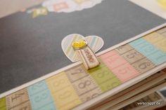 Baby-Girl-Mädchen-Mini-Album-Minialbum-Geburt-Geschenk-Seite-2-Klappe-Detail-Brad-Schleife-Verschluss-Magnet