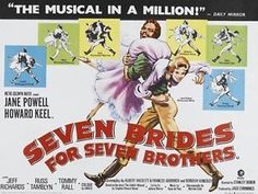 Seven Brides for Seven Brothers Movie Poster 30 x 40 Howard Keel ...