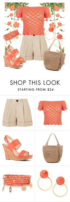 """""""Crochet&Linen"""" by agolm ❤ liked on Polyvore featuring Totême, New Look, Nine West, Flora Bella, Emily & Ashley and Kate Spade"""