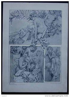 MUCHA - FIGURES DECORATIVES (Librairie centrale des Beaux arts) - Delcampe.net