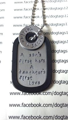 Personalized Dog Tag - Getting this for Valentine's Day from the kids. Fathers Day Presents, Fathers Day Crafts, Gifts For Father, Dad Gifts, Daddy And Son, Daddy Day, Dog Tags Military, Military Gifts, Personalized Dog Tags