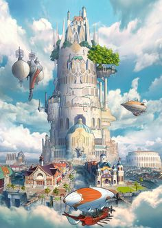 48 Ideas For Fantasy Art Landscapes Dreams Sky