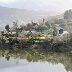 historic Jerusalem and the famous church captures the tranquility and peace of the Whanganui river valley. Cool Countries, Countries Of The World, Jerusalem, Maui, New Zealand, Flora, Peace, River, Island