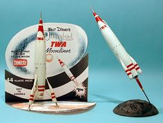 Plastic Model Kits, Plastic Models, Disneyland Map, Rocket Ships, Disney Magic, Walt Disney, Retro Rocket, Sci Fi Models, Space Toys