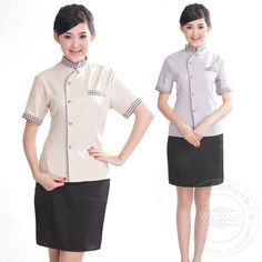 High Quality Slim Cut Hotel Uniform Housekeeping Cleaning