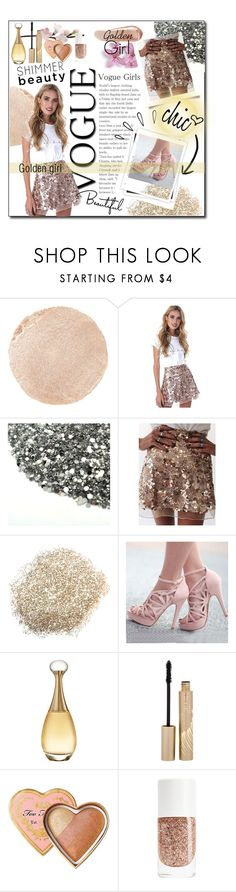 """""""G O L D"""" by lillivangogh ❤ liked on Polyvore featuring Wander Beauty, GALA, Christian Dior, Stila, Too Faced Cosmetics, NARS Cosmetics, Old Navy, outfit, chic and gold"""