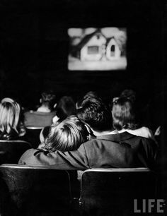 1944. Nina Leen. In wartime, people watched movies to escape. They wanted fun movies, they wanted to watch people laugh and sing and dance, at least for an hour or two.