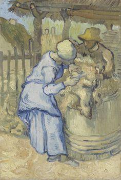 """""""The Sheepshearer (after Millet)"""" Vincent van Gogh"""