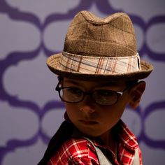 808ad5920617d Dirty Tommy Plaid Flip-Up Fedora with vintage inspired plaid hat band.  Chloe Chinn · Goorin Brothers