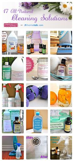 '17 All-Natural Cleaning Solutions...!' (via My Merry Messy Life on Hometalk)