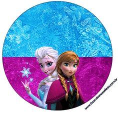 Rótulo Tubetes, Latinhas e Toppers Frozen Roxo e Azul: