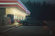 The New York-based graphic designer Leland Foster takes us in his visual universe where pictorial scenes subtly come to life. Gifs, Gif Kunst, Pixel Art, Animation Storyboard, Animation Reference, Foto Gif, Animation Tutorial, Edward Hopper, Cinemagraph