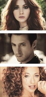 They broke these images. Alex does NOT look like that. Too airbrushed. While Amy (all i remwmber is the character name) her eyes are too big. It messes up her image. And Rory is just perfect. No ome can mess him up.