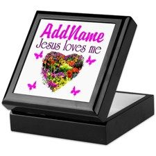 JESUS LOVES ME Keepsake Box Give the gift of faith, hope, and love with these beautiful personalized jewelry and keepsake boxes. http://www.cafepress.com/heavenlyblessings/11366914 #Christiangifts #Christiankeepsakebox #Biblegift #Jesusgift #BornagainChristian #JesusisLord #Scripturegift