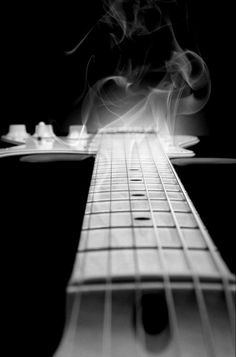 #Black&White Photography|Smoking Guitar